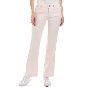 NYDJ Wylie Five-Pocket Linen Trousers Pink NEW